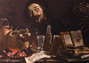 Pieter Boddingh Van Laer : Autoportrait avec une scène de magie