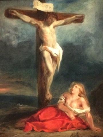 Delacroix Christ et madeleine