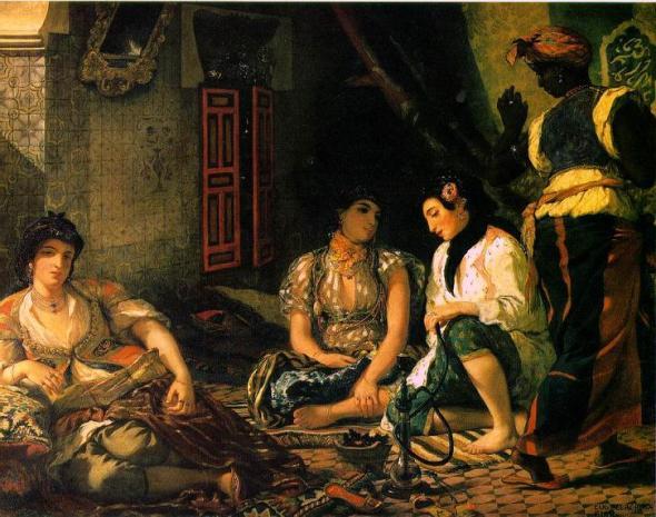Delacroix femme Alger 1834